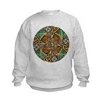 Celtic Aperture Mandala Kids Sweatshirt