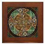 Celtic Aperture Mandala Framed Tile