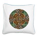 Celtic Aperture Mandala Square Canvas Pillow