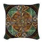 Celtic Aperture Mandala Woven Throw Pillow