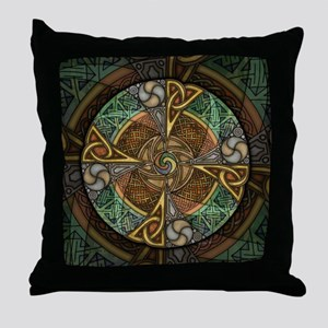 Celtic Aperture Mandala Throw Pillow
