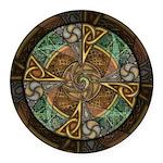 Celtic Aperture Mandala Round Car Magnet