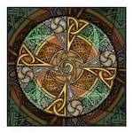 Celtic Aperture Mandala Square Car Magnet 3
