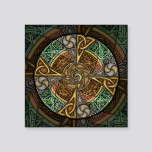 "Celtic Aperture Mandala Square Sticker 3"" x 3"""