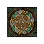 Celtic Aperture Mandala Square Sticker 3