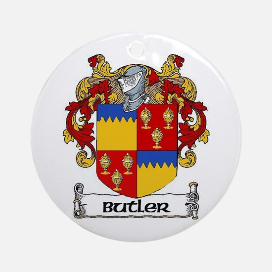 Butler Coat of Arms Ornament (Round)