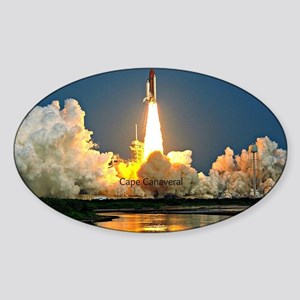 Cape Canaveral Launch Pad Sticker (Oval)