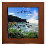 Niagara Falls elopement Framed Tile