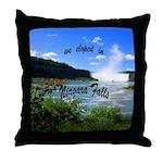 Niagara Falls elopement Throw Pillow