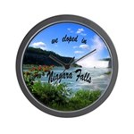 Niagara Falls elopement Wall Clock