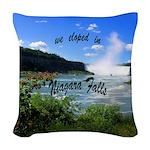 Niagara Falls elopement Woven Throw Pillow