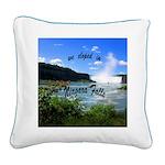 Niagara Falls elopement Square Canvas Pillow