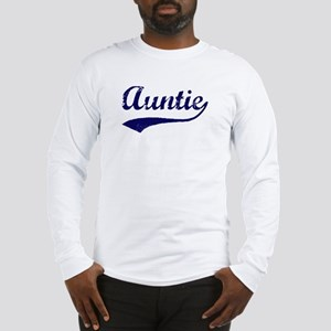 Vintage (Blue) Auntie Long Sleeve T-Shirt
