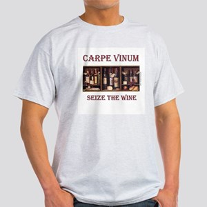 Carpe Vinum -Seize the Wine Ash Grey T-Shirt