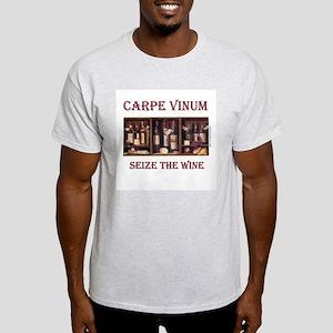 Carpe Vinum -Seize the Wine Ash Grey T-Shirt