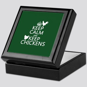 Keep Calm and Keep Chickens Keepsake Box