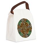 Celtic Aperture Mandala Canvas Lunch Bag