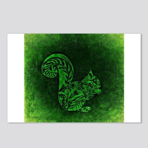 Green Squirrel Postcards (Package of 8)