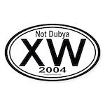 X W 2004 Oval Sticker