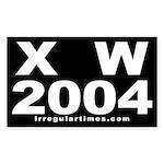 X W 2004 Rectangle Sticker