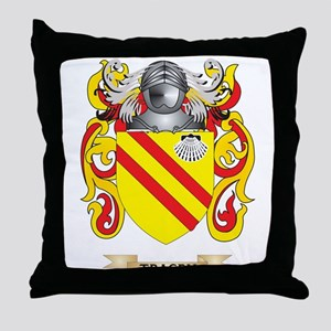 Tracey Family Crest (Coat of Arms) Throw Pillow