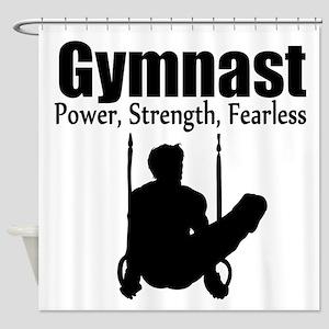 POWER GYMNAST Shower Curtain