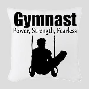 POWER GYMNAST Woven Throw Pillow