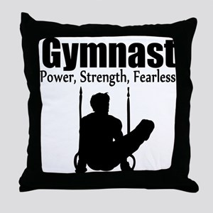 POWER GYMNAST Throw Pillow
