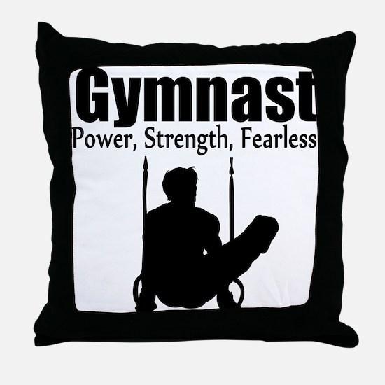 POWER GYMNAST Throw Pillow