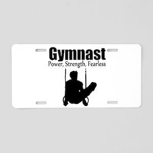 POWER GYMNAST Aluminum License Plate