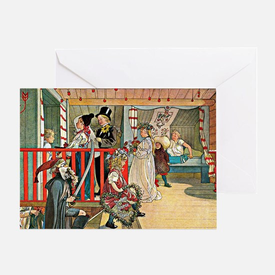 Carl Larsson artwork: A Day of Celeb Greeting Card
