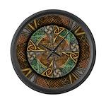 Celtic Aperture Mandala Large Wall Clock