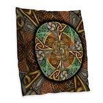 Celtic Aperture Mandala Burlap Throw Pillow