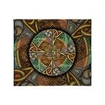 Celtic Aperture Mandala Throw Blanket