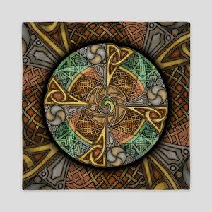 Celtic Aperture Mandala Queen Duvet Cover