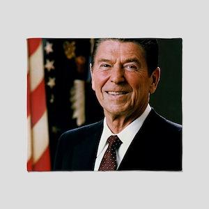 President Reagan Throw Blanket