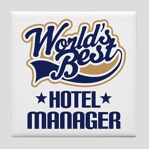 Hotel Manager (Worlds Best) Tile Coaster