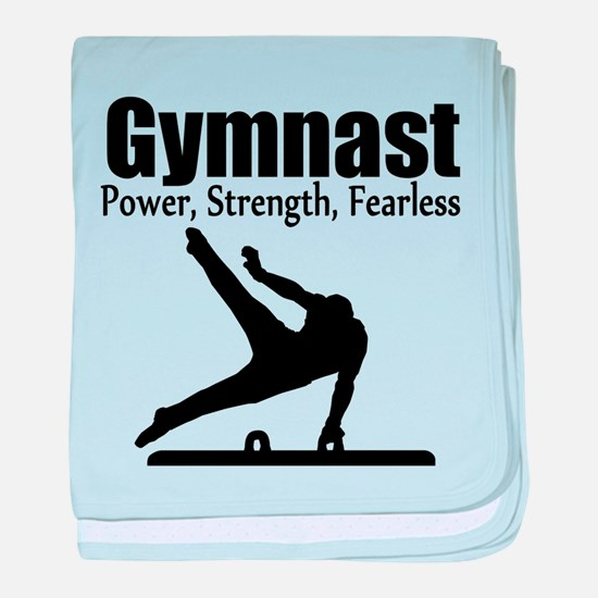 AWESOME GYMNAST baby blanket