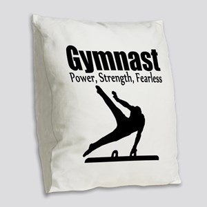 AWESOME GYMNAST Burlap Throw Pillow