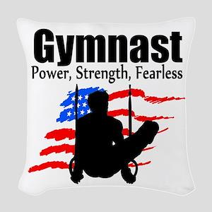 CHAMPION GYMNAST Woven Throw Pillow