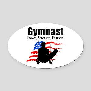 CHAMPION GYMNAST Oval Car Magnet