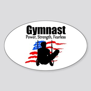 CHAMPION GYMNAST Sticker (Oval)