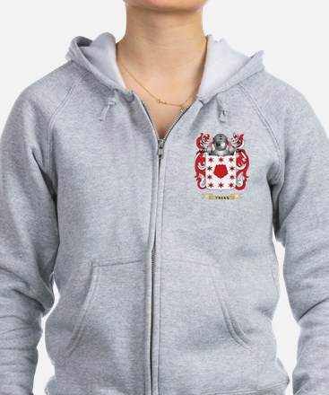 Trees Family Crest (Coat of Arms) Zip Hoodie