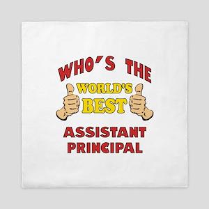 World's Best Assistant Principal (Thumbs Up) Queen