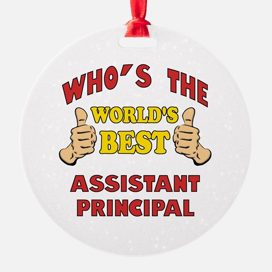 World's Best Assistant Principal (Thumbs Up) Ornament