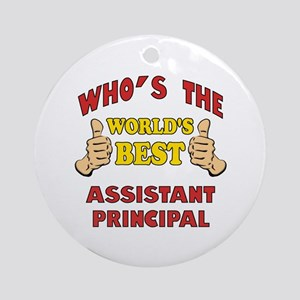 World's Best Assistant Principal (Thumbs Up) Ornam