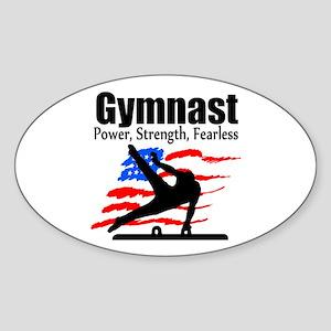 ALL AROUND GYMNAST Sticker (Oval)
