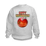 Happy Halloween Razor Blade Apple Sweatshirt