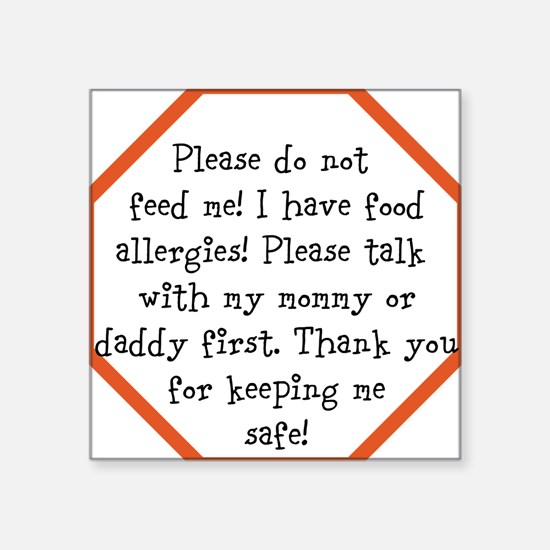 Food Allergy Alert Sticker