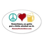 Peace, Love & Beer Stickers (10 Pack)